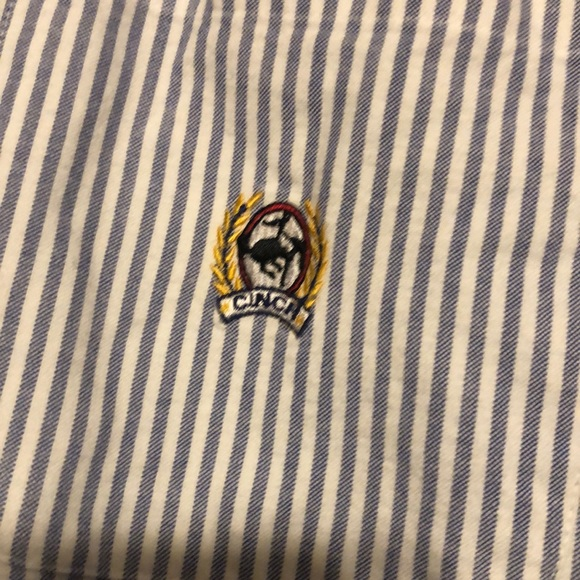 Men's Cinch pinstripe button down